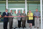 This is a thumbnail photograph of the grand opening festivities of the FACT Transfer Center